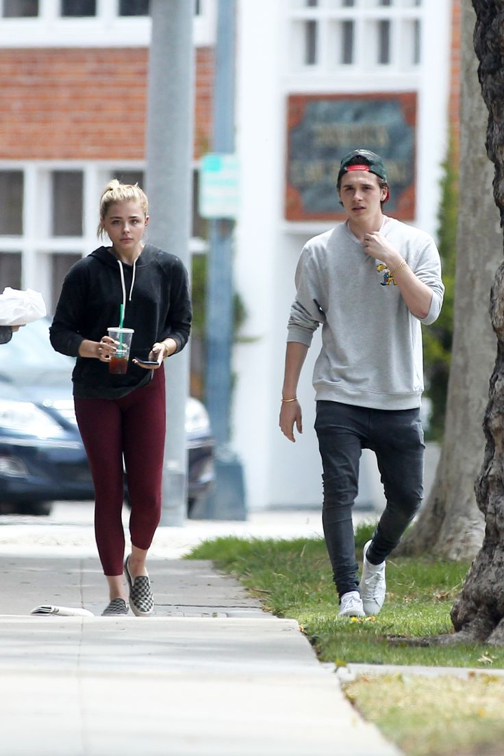 Chloë Grace Moretz and Brooklyn Beckham shopping at XIV Karats in Los Angeles.