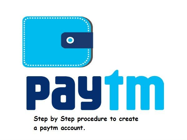 Step by step procedure to create paytm account, paytm wallet