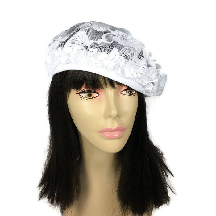 Summer Berets White Lace Beret Lightweight Berets Boho Lace Beret Summer Tams Summer Slouchy Tam Spring Berets  Lace Beret Custom Size Beret by LooptheLoop on Etsy