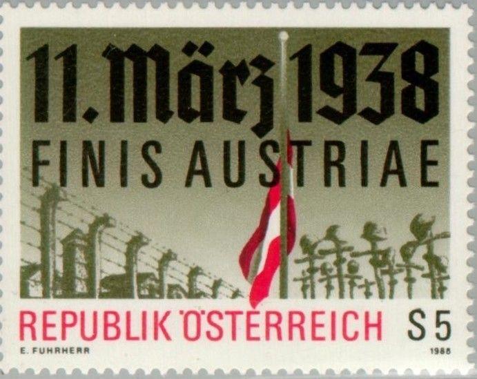 Znaczek: Concentration camp, flag at half-mast & soldiers graves (Austria) (Anschluss) Mi:AT 1914,Sn:AT 1422,Yt:AT 1742,Sg:AT 2156,ANK:AT 1945