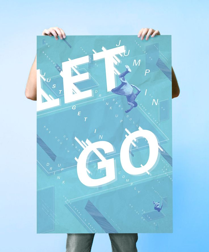 "goodtypography:  ""Let go"" by Jordan Hu 