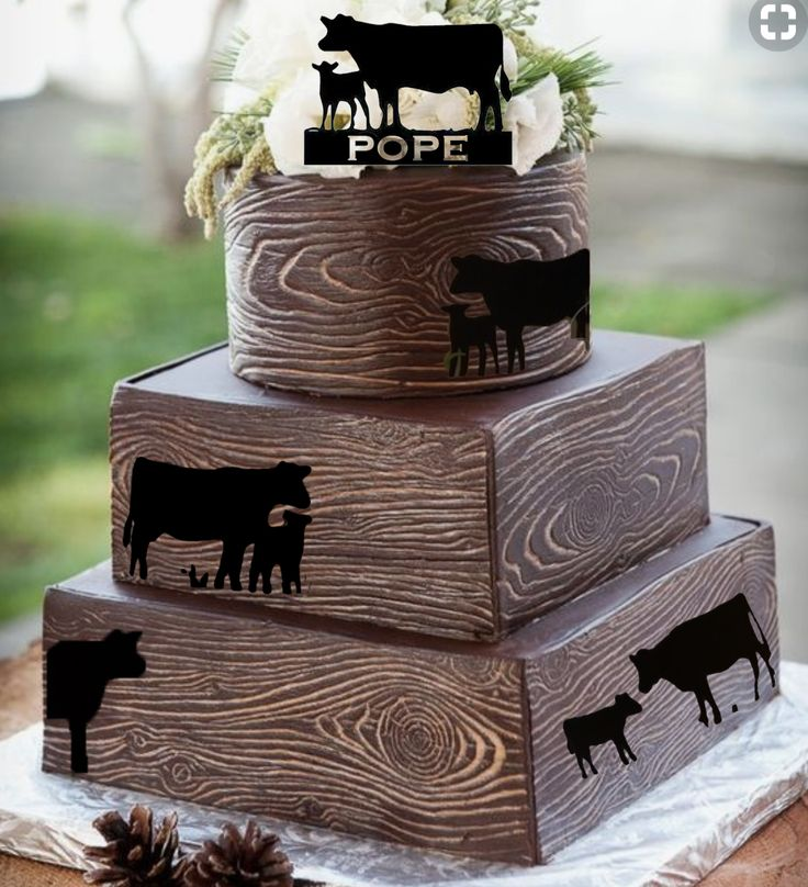 Composite Black Angus Groom Cake