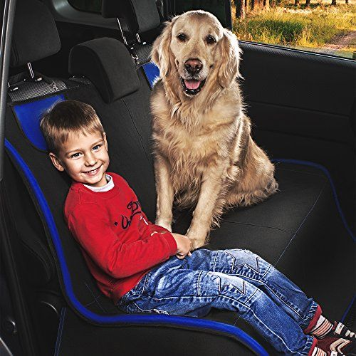 Dog Car Seat Cover, Pet Seat Cover, Back Seat Protector, Pet Travel Accessories for Small and Large Dogs, Black Cover Hammock for Back Rear Seat for Car, Trucks, SUVs - WaterProof, Durable, Anti-slip THE BEST ACCESSORIES TO PROTECT YOUR BACK SEATS: Use the dog seat cover on your rear back seat, 1/2 benches, and in the back of Cars, Trucks or SUVs DESIGNED FOR SMALL AND LARGE DOGS: pet seat cover made with two-layer tear-proof fabric that can withstand even the heaviest of dog