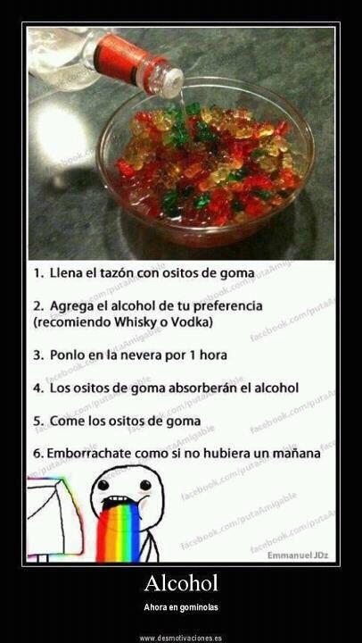 Gomitas con alcohol