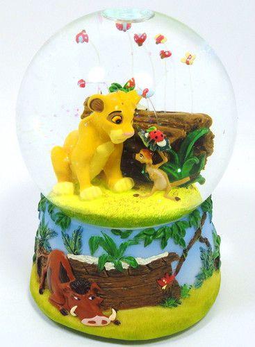 Disney Snow Globe Lion King Music Musical WaterBall Plays Hakuna Matata W/ Box SOLD