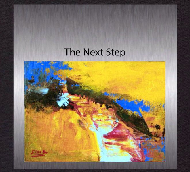 The Next Step - Original Abstract Painting. Colourful Modern Fine Art. Hand Painted not a print. by ElcoStudio on Etsy