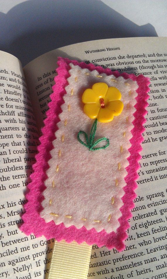 Handmade bookmark book lover gift floral by PatricksPieces on Etsy