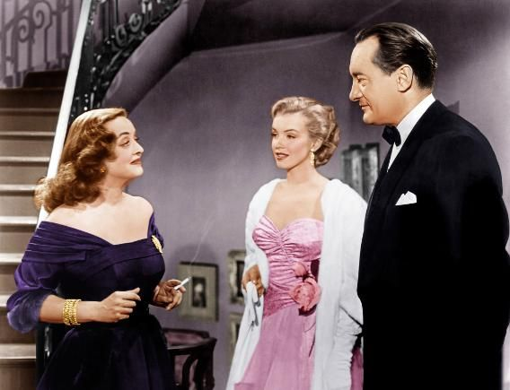 """All About Eve"" co-starred Bette Davis, George Sanders, and Anne Dexter. Monroe was just starting her movie career when she appeared in this film."