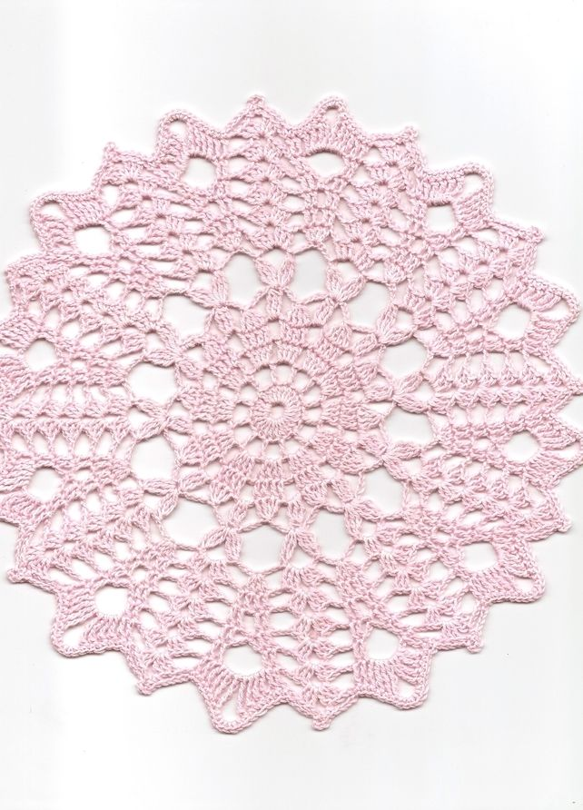 Christmas gift, Crochet doily, lace doilies, table decoration, pink £3.00