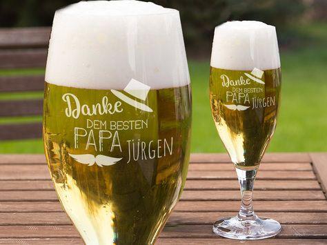Für Biertrinker DAS Geschenk - Bierglas mit Gravur