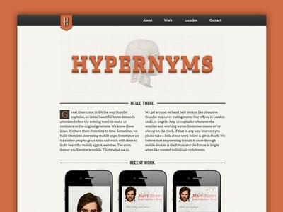 Hypernyms responsive site  by David Kenny