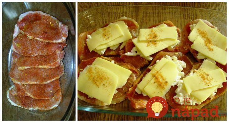 Výborný obed z mäsa a šťavnatej oblohy. Všetko stačí len hodiť na plech, pridať oblohu a perfektné jedlo máte na stole. Potrebujeme: Plátky bravčového karé 1 cibuľu Niekoľko plátkov tvrdého syra 2 lyžice hustej majonézy Olivový olej, pár kvapiek citrónovej šťavy Sladkú červenú papriku 1 lyžičku sušeného cesnaku Soľ Čierne mleté korenie Postup: Mäso umyjeme,...