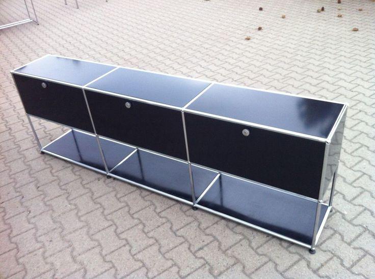 USM Haller Sideboard Regal mit Klapptüren L=227 B=37,5 H=74 in Büro & Schreibwaren, Büromöbel, Schränke & Regale | eBay