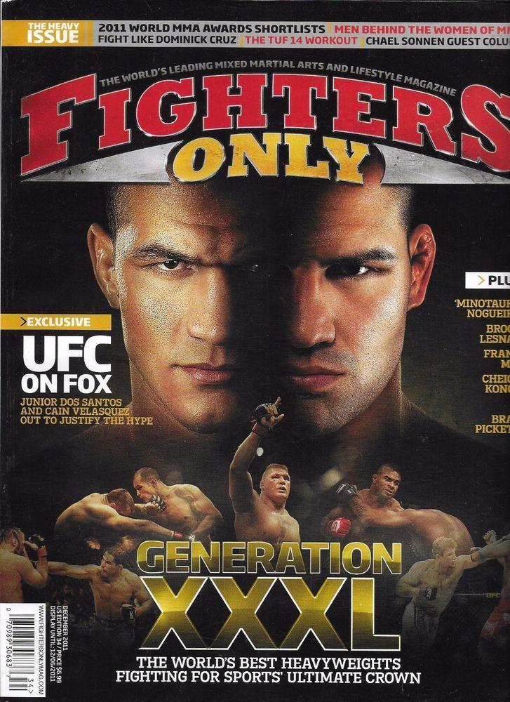 Fighters Only magazine Generation XXL Cain Velasquez Junior Dos Santos Workout