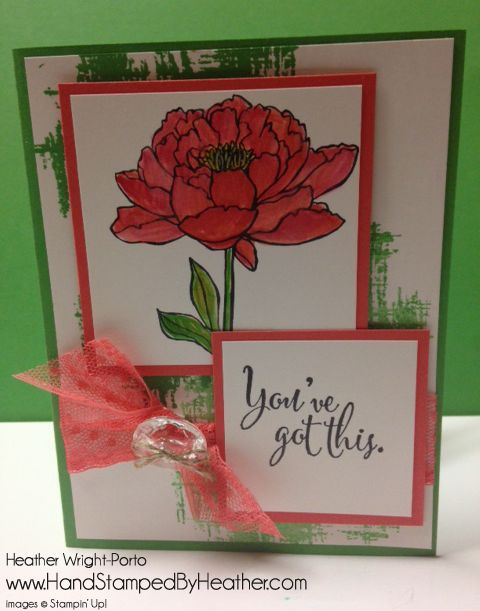 Hand Stamped By Heather, Heather Wright-Porto, Stampin' Up! Demonstrator: Stampin' Up! You've Got This - Happy Stampers Team Blog Hop