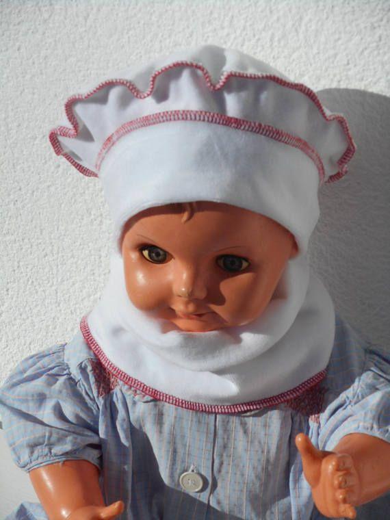 bonnet béret chapeau bébé fille lin eva kids velours blanc et rouge ... 911f6417844