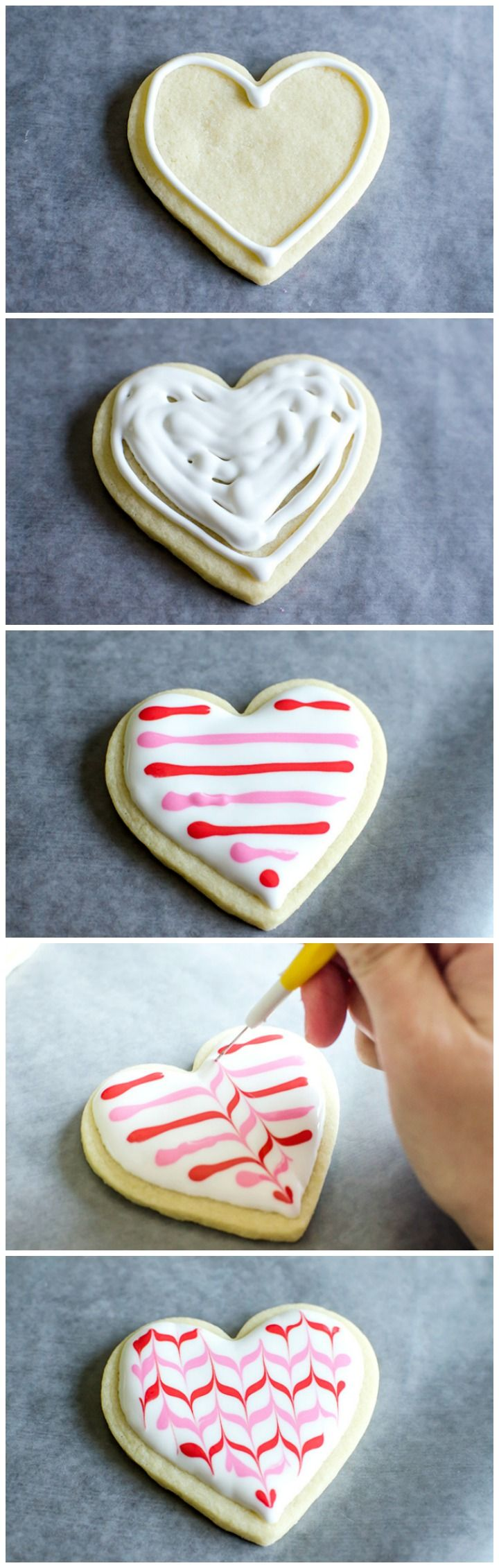 """Oh so cute - cookie bouquets for Valentine's Day with decorated heart shaped cookie pops. Plus a free """"Galentine's Day"""" printable tag!"""