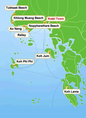 Krabi Map