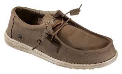 Hey Dude Wally Canvas Shoes for Men - Olive - 12M