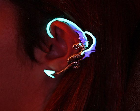 Hey, I found this really awesome Etsy listing at http://www.etsy.com/listing/157035111/dragon-ear-cuff-glow-in-the-dark