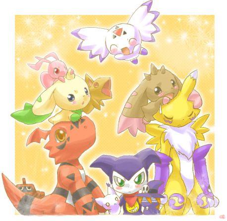 Inano2009, Digimon Tamers, Impmon, Lopmon, Culumon, Terriermon
