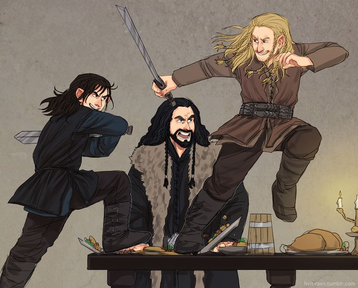 Teenage fight...much different in Middle Earth~ okay, I have to. I was raised in Middle Earth, this would be happenin'.                                                                                                                                                     More