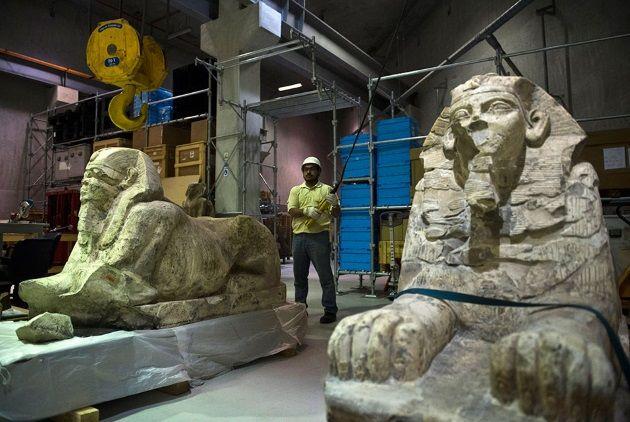 Nuevo museo egipcio en construcción en El Cairo. Expertos comienzan a preparar el traslado de objetos del Museo de El Cairo al nuevo, que estará abierto al público en el 2022. Crédito: Art Daily.