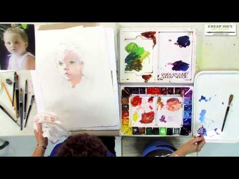 Watercolor Techniques with Janet Rogers - Creating Flesh Tones-Part 2 - YouTube