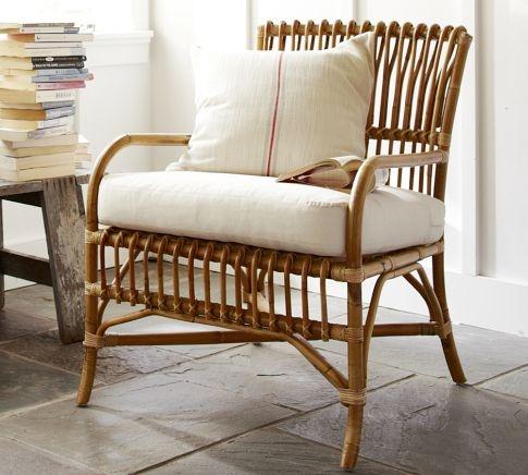 Paddington Rattan Armchair | Pottery Barn