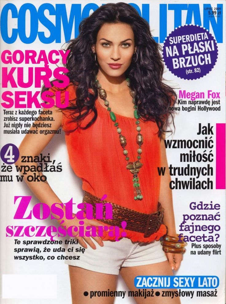 Cosmopolitan Magazine Covers | Megan Fox Polish Cosmopolitan Magazine Cover Picture