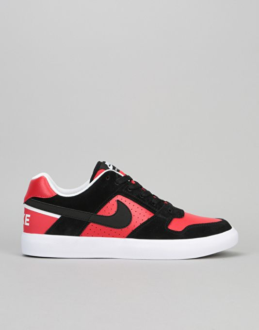 sale retailer a5bfa 0453c Nike SB Delta Force Vulc Skate Shoes - Black Black University Red