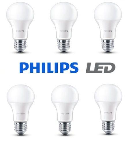 ¡Chollo! Pack de 6 bombillas LED Philips E27 consumo 6W por 14.96 euros.