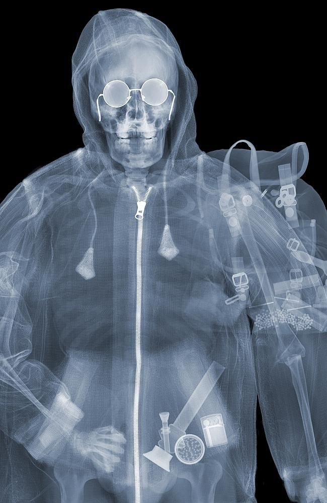 Drug taker? ... drug paraphernalia can be seen in this revealing photo. Nick Veasey