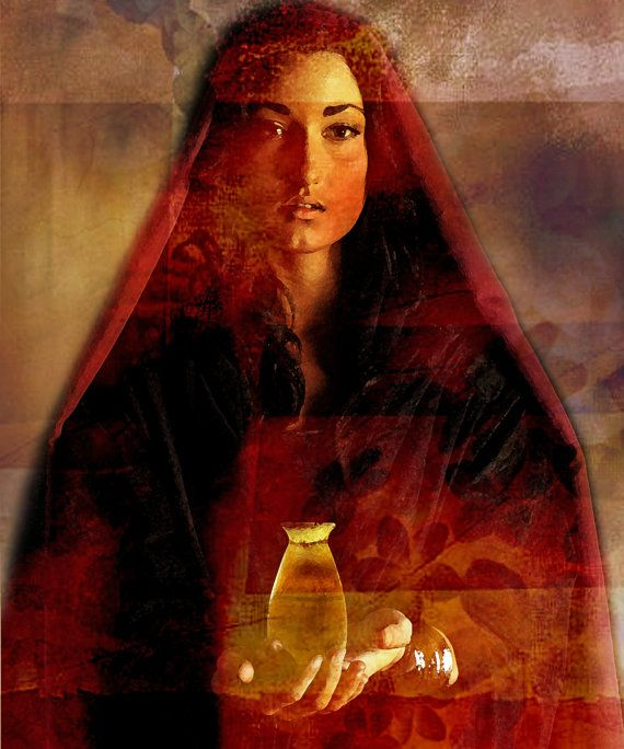 Mary Magdalene with Alabaster Jar by EsotericaZosimoto on Etsy