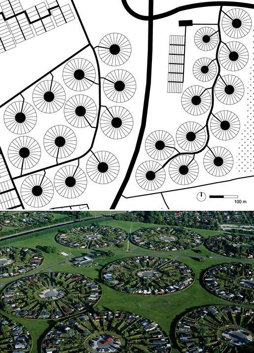 Esquemas de los diferentes modelos de estructura urbana basada en el círculo Continuamos la aproximación al círculo como estructura u...