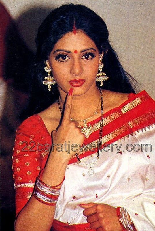 jewellery designs sridevi bonikapoor in pearls earrings