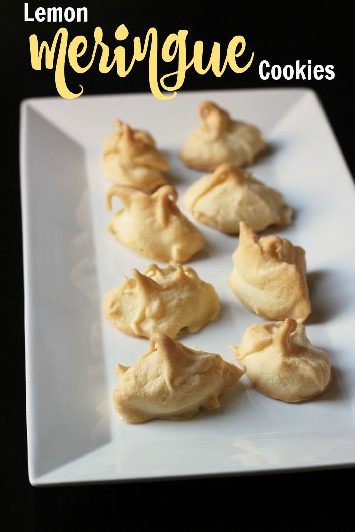 Lemon Meringue Cookies   Good Cheap Eats - Bake up a batch of lemony, light, and fluffy clouds of meringue. These Lemon Meringue Cookies are a fun addition to your cookie plate. #dairyfree #glutenfree #meringues