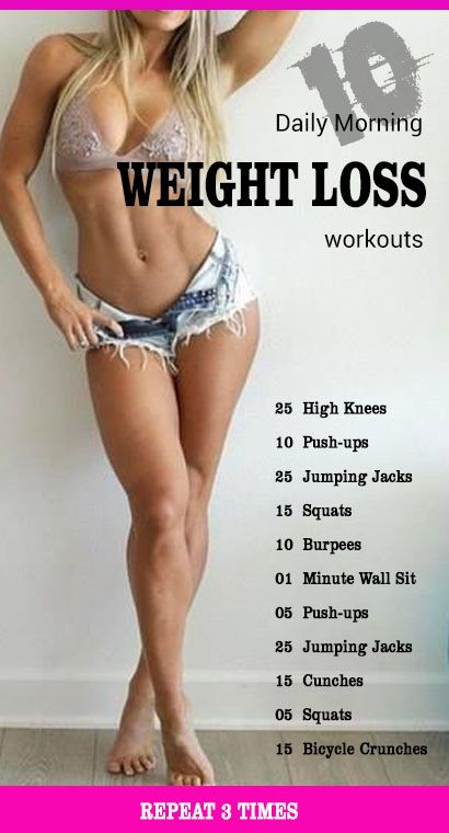 10 Daily Morning Weight loss Workouts.