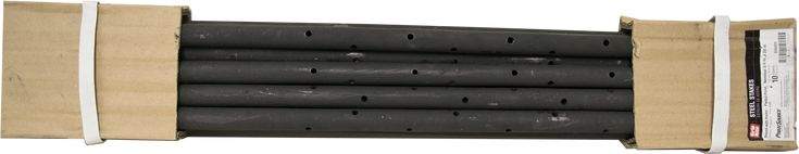 "Concrete Forming Round Steel Stakes With Holes 3/4"" X 24"" 10 Pack"