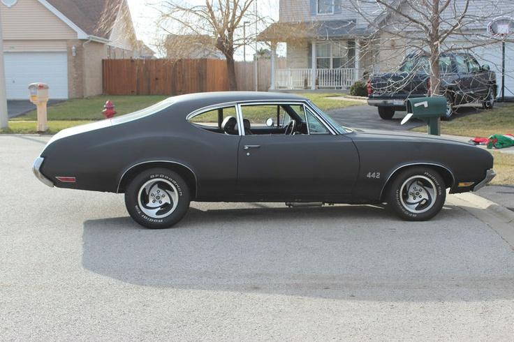 1971 Matt Black Oldsmobile Cutlass Pinterest Flats