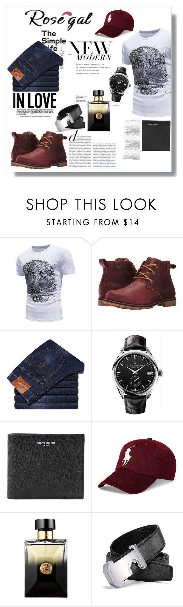 """""""ROSE GAL"""" by novac-georgiana ❤ liked on Polyvore featuring Columbia, Carl F. Bucherer, Yves Saint Laurent, Polo Ralph Lauren, Sephora Collection, modern, men's fashion and menswear"""