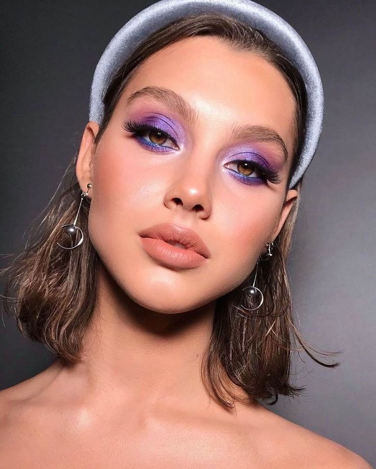 Maquillage rose gold et violet / MSC   Maquillage rose