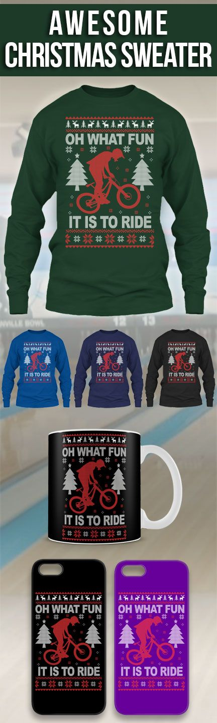 Mountain Bike Ugly Christmas Sweater! Click The Image To Buy It Now or Tag Someone You Want To Buy This For.  #mountainbike