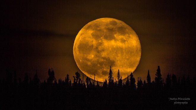 Lever de la lune Fermont, QC