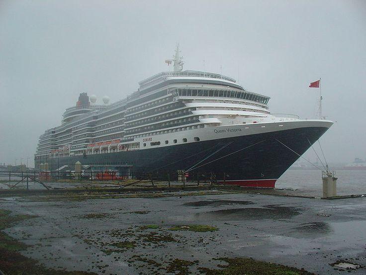 Queen Victoria docked in Liverpool