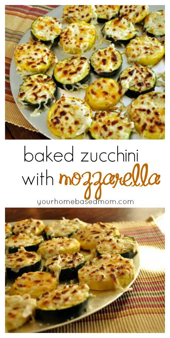 This baked zucchini with mozzarella is the perfect way to get your kids to eat their veggies.