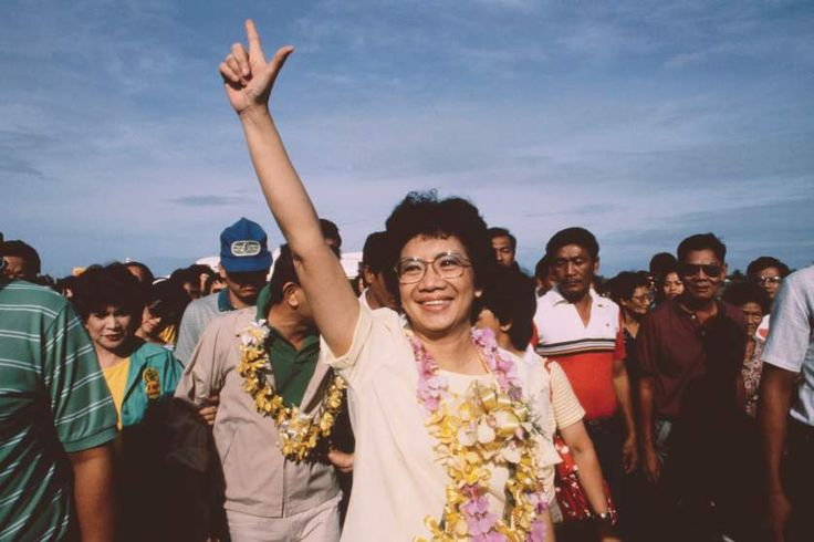 """<span style=""""font-size:medium;""""><strong>Corazon Aquino, the Philippines </strong></span><br> When Corazon Aquino's senator husband was assassinated in 1983, Aquino ran against 20-year autocrat Ferdinand Marcos in his stead. Though Marcos claimed victory, Aquino led a peaceful revolution across the nation of impoverished islands. Aquino became President of the Philippines upon Marcos' resignation."""