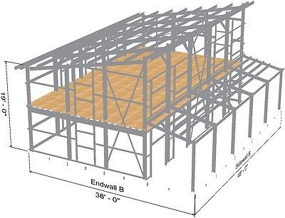 Details About Steel Home Lake Mountain Cabin Shell Kit Contemporary Single Slope