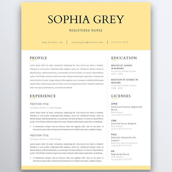 The 25+ best Nursing resume template ideas on Pinterest Rn - pages resume templates mac
