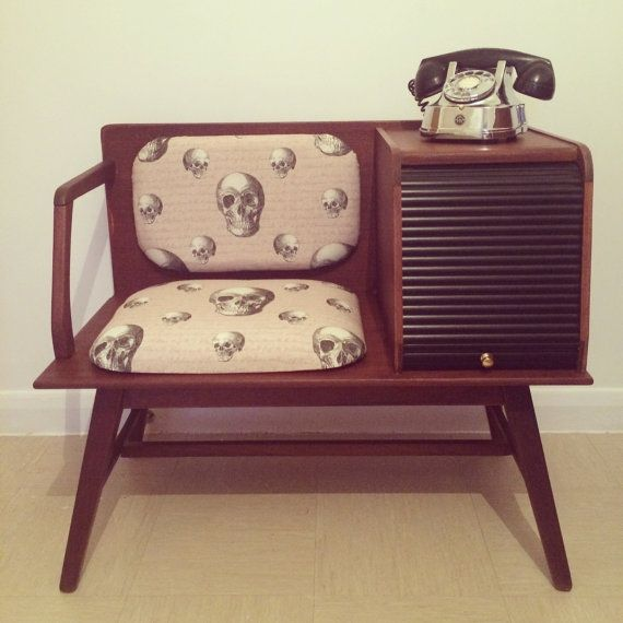 Upcycled Retro/vintage Telephone Table On Etsy, $302.04